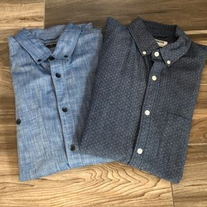 Lot of 2 Men's Express Chambray Button Up Medium